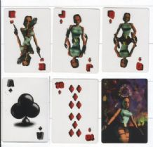 Collectable  playing cards.Lara Cartoon computer art